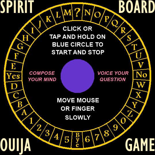 Spirit Board Ouija Game