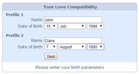 free instant astrological love compatibility index calculator
