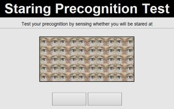 Staring Precognition Test