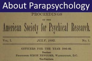Psychical Research and Parapsychology