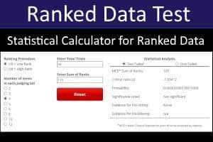 Ranked Data Statistical Calculator